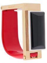 Marni - geometric cuff - women - Resin/metal/wood - OS - Nero