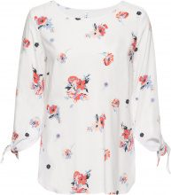 Blusa con maniche da annodare (Bianco) - RAINBOW