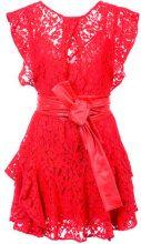 Marissa Webb - ruffled lace dress - women - Nylon/Viscose/Cotton - M - RED