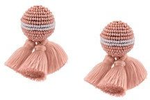 Mignonne Gavigan - beaded earrings - women - Acetate - OS - PINK & PURPLE