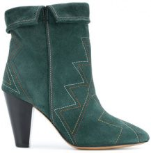 Isabel Marant - Dyna ankle boots - women - Calf Leather/Calf Suede/Leather - 36, 37, 38, 39, 40 - GREEN