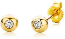 Miore - Orecchini da donna con diamante (0,06 ct), oro giallo 18k (750), cod. M0411Y
