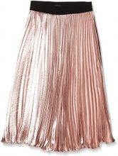 New Look Petite Satin Pleat, Gonna Donna, Beige (Nude), 34
