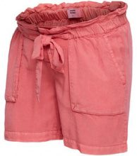 MAMA.LICIOUS Tie-band Maternity Shorts Women Red
