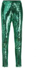 Laneus - Pantloni con paillettes - women - Polyester - 38, 40 - GREEN