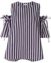 P.A.R.O.S.H. - Blusa a righe - women - Cotone/Polyester - S, M, XS - Blu