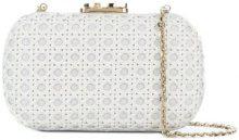 Corto Moltedo - Susan C Star clutch - women - Calf Leather/Silk Satin - OS - WHITE
