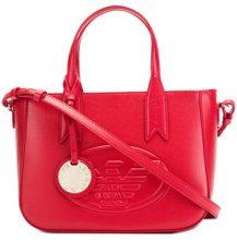 Emporio Armani - front logo tote bag - women - Polyurethane - OS - RED