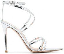 Gianvito Rossi - cross strap sandals - women - Leather/Patent Leather - 39, 37.5, 39.5 - METALLIC