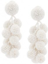Sachin & Babi - Coconuts earrings - women - glass - One Size - WHITE