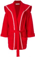 Philosophy Di Lorenzo Serafini - Cardigan con cintura - women - Cotton/Polyamide - 38, 40, 42 - RED