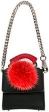 Les Petits Joueurs - bag keyring - women - Cotton/Leather - OS - BLACK