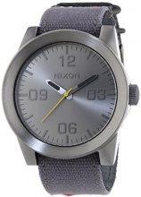 Nixon Corporal Funmetal Navy Patchwork A2431895-00 - Orologio da polso da uomo, cinturino in pelle colore blu
