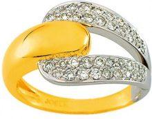 Miore 7 Vd030xb2-Anello da donna in oro giallo e oro bianco, 750/1000-5,5Gr-0,49Ct diamanti, taglia 54