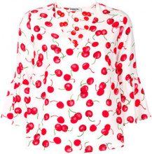 Essentiel Antwerp - Blusa con stampa a ciliegie - women - Polyester - 34, 36 - PINK & PURPLE