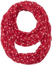 TOM TAILOR printed crinkle loop, Slip Donna, Rosso (red bud), Taglia unica