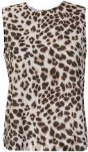 Equipment - leopard print tank top - women - Silk/Cotton - L, M, XS - WHITE