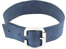 - Manokhi - buckled collar - women - metallo/pelle di agnello - Taglia Unica - di colore blu
