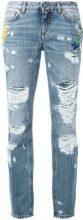 Dolce & Gabbana - distressed boyfriend jeans - women - Cotone - 42, 44 - Blu