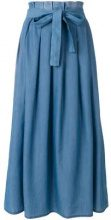 Fabiana Filippi - Gonna a pieghe - women - Cotton/Cashmere - 40, 42 - BLUE