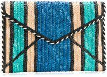 Rebecca Minkoff - Borsa Clutch - women - Cotton/Straw - OS - BLUE