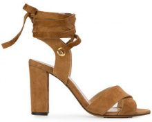 Tila March - ankle tie Cancun sandals - women - Suede/Leather - 36, 37, 38, 39, 40 - BROWN