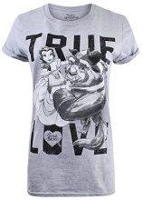 Disney True Love, T-Shirt Donna, Grey (Sport Grey), 38