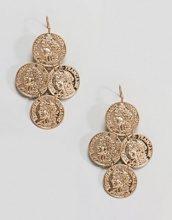 ASOS - Orecchini pendenti con monetina stile vintage - Oro