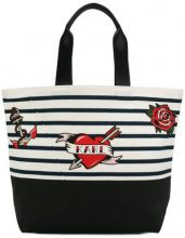 Karl Lagerfeld - Borsa a righe - women - Cotton - OS - WHITE