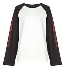 Mia Super Oversized Slogan Sleeve Raglan