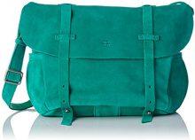 Mila Louise Borsa a spalla Donna, Verde (Verde (Jade 50)), 18x23x29 cm (W x H x L)