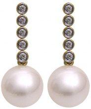 Kimura Pearls - Orecchini da donna, oro giallo 9k (375), cod. EN0019-201