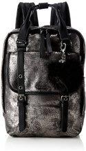 Tamaris Leticia Backpack - Borse a zainetto Donna, Grau (Pewter Comb), 9x34.5x24 cm (B x H T)