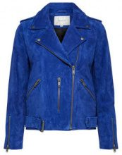 SELECTED Suede - Leather Jacket Women Blue