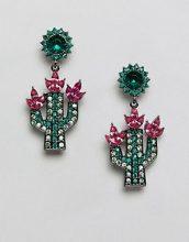 ASOS DESIGN - Orecchini pendenti con pietre e cactus - Multicolore
