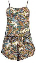 Ebony Paisley Cami Beach Co-ord Set