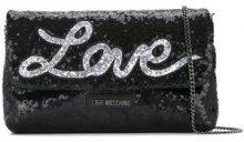 Love Moschino - Borsa a spalla - women - Polyurethane/Sequin - OS - BLACK