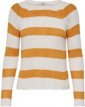ONLY Striped Knitted Pullover Women White