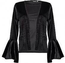 Isabella Flute Sleeve Velvet Blazer