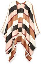 United Colors of Benetton Shawl, Poncho Donna, Multicolore (Mulitcolor White, Black, Pink, Brown), Taglia unica