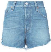 Levi's - Pantaloni corti denim a vita alta - women - Cotton - 24, 25, 26, 27, 28, 29 - BLUE
