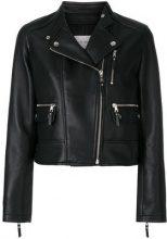 Yves Salomon - leather biker jacket - women - Silk/Lamb Skin - 36, 38, 40 - BLACK