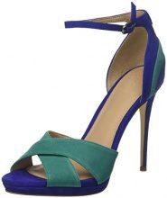 Guess Footwear Dress Sandal, Scarpe Col Tacco con Plateau Donna, Verde, 40 EU