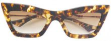 Dita Eyewear - occhiali da sole cat-eye 'Erasur' - women - Acetate/Metal (Other) - 53 - Marrone