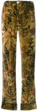 F.R.S For Restless Sleepers - Pantaloni con stampa floreale - women - Silk - S - Marrone