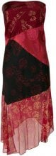 Romeo Gigli Vintage - embroidered asymmetric dress - women - Acetate/Viscose - 42 - RED