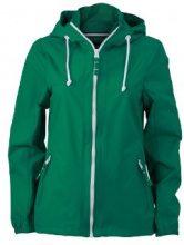 James & Nicholson - Sofshell Ladies Sailing Jacket, Giacca Donna, Verde (Irish Green/White), Small (Taglia Produttore: Small)