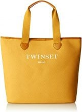 Twin Set As8pna, Borsa a Spalla Donna, Oro (Golden Yellow), 15x36x34 cm (W x H x L)