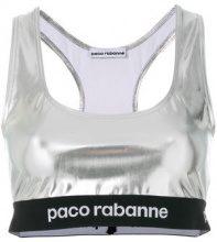 Paco Rabanne - Crop top metallizzato - women - Polyimide/Spandex/Elastane - M, L, XS - METALLIC