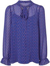 MAMA.LICIOUS Dotted Nursing Top, Long Sleeved Women Blue